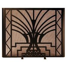 Image Edgar Brandt Art Deco Fireplace Screen Door Custom Hand Forged Firescreens For Your Fireplace Ironforgecom Art Deco Fireplace Screen Door Ironforgecom