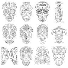Coloring Pages Free Printable Sugar Skull Coloring Pages With