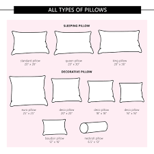 Foam Fill Chart 26 Different Types Of Pillows For Sleeping Pillow Size