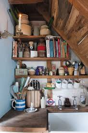 Adorable space saving kitchen pantry ideas Diy Small Kitchen Big Style Anfirock 55 Amazing Spacesaving Kitchens Under The Stairs Fab Decor