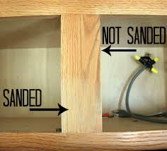 restaining oak cabinets repainting without sanding amys office repainting how to stain kitchen cabinets without sanding jpg
