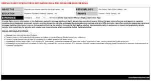 Gmdss Radio Operator Sample Resume Inspiration Radio Operator In Offshore Rigs And Onshore Rigs Resume Cover