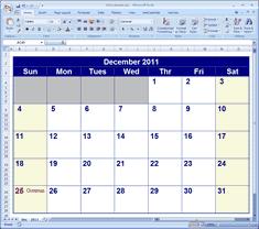 Free Excell Calendar Free 2009 Calendar Printable Excel Format