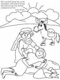 Small Picture The Good Samaritan Colouring Sheet Sunday school Churches and
