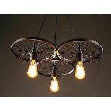 light bulb chandelier 3 antique bronze inch with diy cer