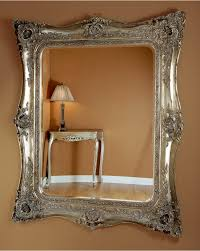 longford large silver ornate wall mirror