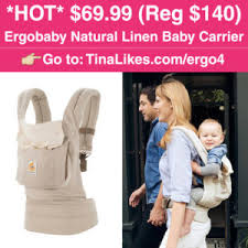 Zulily: $69.99 (Reg $140) Ergobaby Natural Linen Baby Carrier   Baby ...