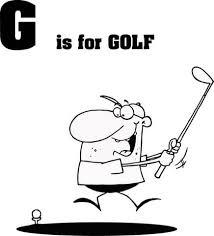 Letter G Is Voor Golf Kleurplaat Gratis Kleurplaten Printen