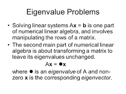 ax b linear algebra math eigenvalue problems solving linear systems ax b is one part of