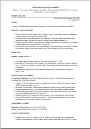 Resume For Substance Abuse Counselor Therpgmovie