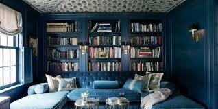 home library furniture. Blue Velvet Tufted Sofa Home Library Furniture