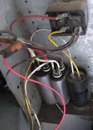 rv net open roads forum installing a new capacitor in my coleman a c left to right are compressor run cap fan run cap and compressor start cap above compressor start cap is the start relay spp6e replaces compressor start