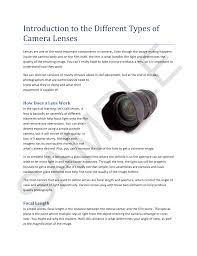 Photography 101 Lenses Light And Magnification Introduction To The Different Types Of Camera Lenses