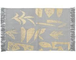 gold garden dhurrie rug