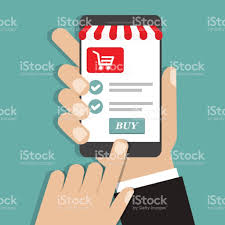 Smartphone Online Holding With Screen Shopping And Buy Concept Hand w4gP5qAq