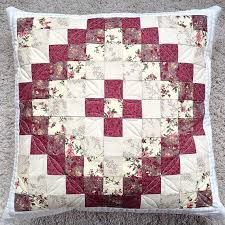 740 best pårna images on Pinterest | Cushions, Quilted pillow and ... & Quilted floral pillow cover pillow sham throw by PrositoQuilts Adamdwight.com