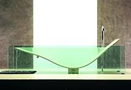 glass bathtub how to make a glass bathtub work kitchen bath trends aqua glass vero bathtub wall