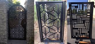 modern metal gate. Finally, A Place To Purchase Gorgeous, One-of-a-kind Metal Work At Great Price! We Custom Fabricate Exclusive Entry Gates, Yard Courtyard Modern Gate E