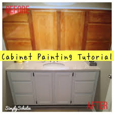 painting bathroom vanity before and after. bathroom vanity makeover cabinet painting tutorial simplyschulze before and after