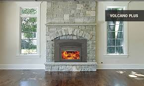 supreme volcano wood burning fireplace insert