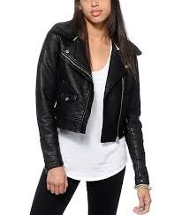 obey ed faux leather jacket