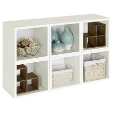 Furniture:Neat Decoration For Wicker Basket Storage In White Shelves Design  Idea Great Looking 6