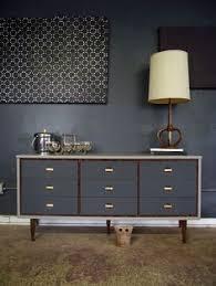 painted mid century furniturepainted midcentury modern dressercredenza by VintageFreshShop