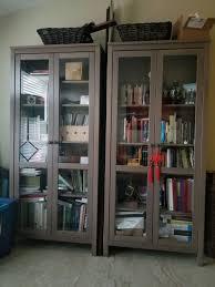 hemnes ikea display cabinet bookshelves