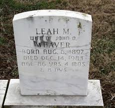 Leah M Weaver (Horst) (1897 - 1983) - Genealogy