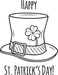 Small Picture Free Printable Happy St Patricks Day Coloring Page for Kids