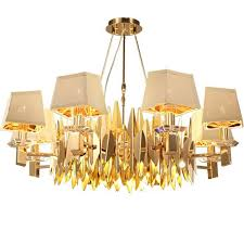 large lampshades extra large lamp shades for floor lamps golden color led crystal chandelier lamp