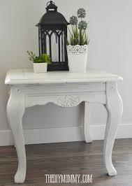 diy shabby chic end table with diy chalk paint and diy dark metallic wax