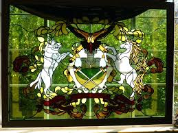 antique stained glass patterns custom stained glass family coat of arms in stained glass by stained