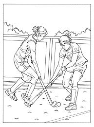 Kleurplaat Hockey Sport
