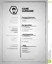 Minimalist Resume Minimalist CV Resume Template Stock Illustration Illustration 47