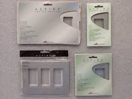 aspire cooper wiring 3 gang less wallplates silver granite 1 of 1 see more