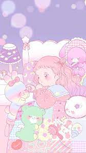 Cute Pink Anime Iphone Wallpaper