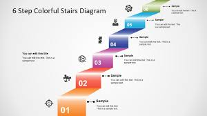 Step Chart In Powerpoint 6 Step Colorful Stairs Diagram For Powerpoint