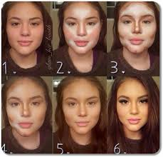 amazing results of highlighting contouring makeup
