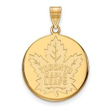 nhl gold toronto maple leafs nhl pendant stock 1y022mle