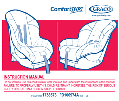car seat users guides car seat page 4 rh usersmanuals1 com graco baby s graco comfortsport