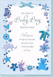 Card For Baby Boy Delivery Celebration Card Boy Ribbon Top Motif British Overseas Greeting Card Baby Shower
