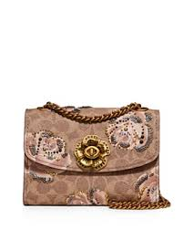 COACH - Parker Small Floral Print Coated Canvas Convertible Shoulder Bag ...