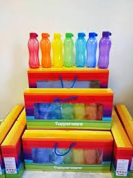tupperware rainbow eco bottle gift set 7