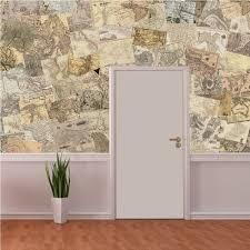 creative collage maps 64 piece wallpaper
