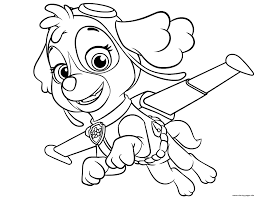 Paw Patrol Coloring Pages Free Party Ideas Activities By In Everest