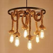 6 light vintage retro pendant lights