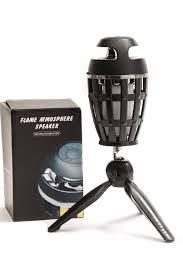 Led Lamp Flame Flicker Bluetooth Speaker On Tripod Indoor Or