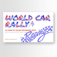 Rally Templates Abstract World Car Rally Banner With Creative Fonts Template For