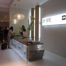 alf da fre glass reception and lit wall panels